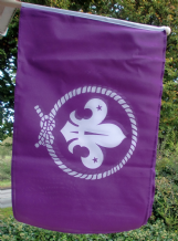 HAND WAVING FLAG - Scouts (Purple)
